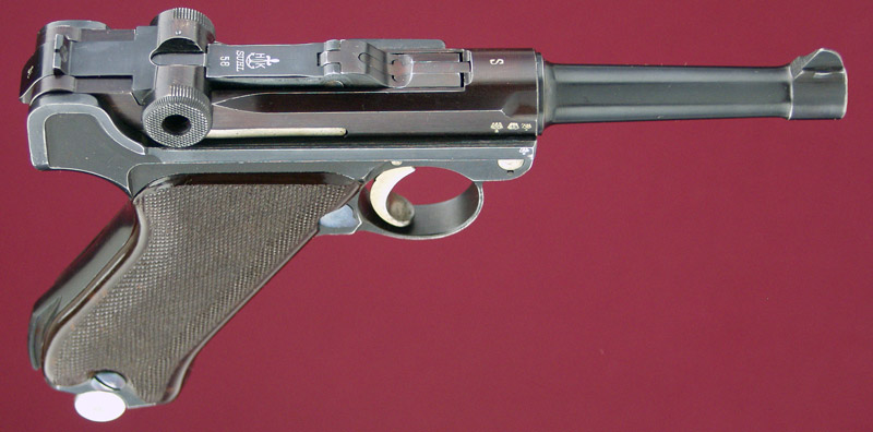 H.K. Krieghoff Suhl S Dated Luger Right View